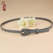 Belt / belt / chain top layer leather female belt leisure time Single loop Pin buckle Glossy surface soft surface 1.5cm Bare body heavy line decoration Pingyu 95cm 100cm 105cm 110cm 115cm 120cm Autumn and winter 2018