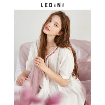 Nightdress Leting white 155/S 160/M 165/L Sweet Short sleeve Short skirt summer cotton CLFA82357 Summer of 2018 Cotton 100% Pure e-commerce (online only)