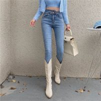 Jeans Autumn 2020 blue S M L XL trousers High waist Pencil pants 18-24 years old washing Cotton elastic denim light colour XDH0011 Good core Other 100% Pure e-commerce (online only)