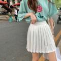 skirt Summer 2021 S,M,L White, black, white spot (1-3 days) hair Short skirt commute High waist A-line skirt Solid color Type A 81% (inclusive) - 90% (inclusive) Chiffon Wu 77 polyester fiber zipper Korean version
