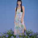 Dress Summer 2020 Decor S,M,L Mid length dress other Sleeveless commute Loose waist Hand painted Socket A-line skirt camisole Type A U are / ear literature Asymmetry, printing D65TT0613 91% (inclusive) - 95% (inclusive) polyester fiber