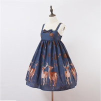 Lolita / soft girl / dress Punk Street Blue intention gold (138 to be supplemented), red intention gold (138 to be supplemented), black intention gold (138 to be supplemented) Average s and large L