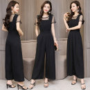 Casual pants black S,M,L,XL,2XL Summer 2021 trousers Jumpsuit Natural waist commute routine 25-29 years old 30% and below Other / other other Ol style polyester fiber