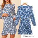 Dress Autumn 2020 blue S,M,L Short skirt singleton  Long sleeves street Crew neck 18-24 years old 123- Europe and America