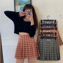 skirt Summer 2020 S,M,L Black, red, yellow, sweet orange, orange, pink Short skirt commute High waist A-line skirt lattice Type A 18-24 years old G0421 30% and below other Stitching, 3D Korean version