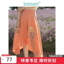 skirt Summer 2020 S,M,L,XL Warm orange Mid length dress Versatile A-line skirt Solid color Type A 25-29 years old 81% (inclusive) - 90% (inclusive) other Inman / Inman Viscose printing