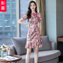 Dress Summer 2020 Pink apricot S M L XL XXL Mid length dress singleton  Short sleeve commute Crew neck High waist Decor Socket Irregular skirt routine Others 30-34 years old Red ink Korean version TM2020B-6-6-1013- More than 95% other other Other 100% Pure e-commerce (online only)