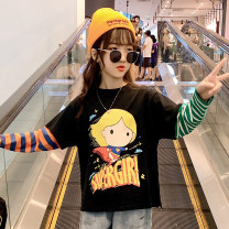 T-shirt Hanfan s cartoon base shirt Guldoeleph / Gudong elephant 110cm 120cm 130cm 140cm 150cm 160cm female spring and autumn Long sleeves Crew neck Korean version There are models in the real shooting nothing cotton Cartoon animation Cotton 100% SY0164 Class B other Autumn 2020 Chinese Mainland