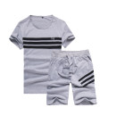 T-shirt Youth fashion Gray, white, dark blue, black routine M,L,XL,2XL,3XL,4XL,5XL #NOHASHTAG Short sleeve Crew neck Self cultivation Other leisure summer youth routine Youthful vigor Sweat cloth 2021 Solid color Color contrast cotton Geometric pattern No iron treatment Non brand More than 95%