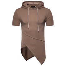 T-shirt Youth fashion routine M,L,XL,2XL Short sleeve Hood standard daily Four seasons Hip hop Sweat cloth Decorative loop No iron treatment Non brand