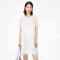 Dress Spring 2021 white 2/S 3/M 4/L 5/XL 6/XXL Middle-skirt singleton  Short sleeve Crew neck Loose waist other Socket other routine Others 30-34 years old Type H YAYING Lace EGGEC4255A 71% (inclusive) - 80% (inclusive) cotton Cotton 72.9% polyamide fiber (nylon) 27.1%