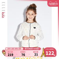 Sweater / sweater 110cm 120cm 130cm 140cm 150cm 160cm other female white elle kids leisure time There are models in the real shooting Single breasted Thin money Crew neck nothing Ordinary wool other Cotton 100% ESC102116 Class B Long sleeves Spring 2020 spring and autumn