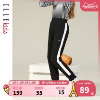 trousers elle kids female Navy big red grey black spring and autumn trousers leisure time No model Casual pants Leather belt middle-waisted Don't open the crotch Cotton 96% polyurethane elastic fiber (spandex) 4% EKB109106 Class B Spring of 2019