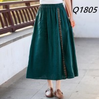 skirt Summer 2021 Average size Green, Navy, coffee, off white More than 95% hemp