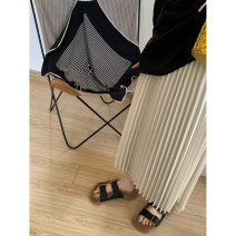 skirt Spring 2021 S, M 3-5 working days for apricot and 3-5 working days for classic black Mid length dress commute High waist Pleated skirt Solid color Type A 04 pleated skirt 20210324 51% (inclusive) - 70% (inclusive)