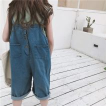 trousers Other / other female 110cm,120cm,130cm,140cm,150cm,160cm summer Cropped Trousers Korean version There are models in the real shooting rompers Button / zipper middle-waisted Cotton elastic denim Don't open the crotch Cotton 100% Class B rompers Chinese Mainland Shanghai Shanghai