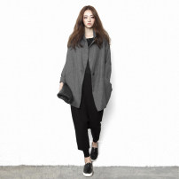 short coat Spring 2020 S,M,L,XL Gray, black Long sleeves Medium length Thin money singleton  easy commute routine tailored collar A button Solid color 25-29 years old The original way 51% (inclusive) - 70% (inclusive) W802 Polypropylene fiber