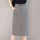 skirt Summer 2021 2 = s, 3 = m, 4 = L, 5 = XL Plaid skirt Mid length dress Versatile Natural waist other houndstooth  Type H 25-29 years old 5200296-4K00521-001 More than 95% Brother amashsin pocket