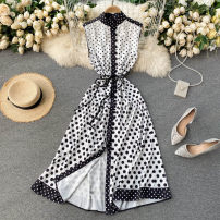 Dress Spring 2021 white M,L,XL,2XL Middle-skirt singleton  commute Crew neck High waist Dot Socket A-line skirt Others 18-24 years old Type A Korean version 31% (inclusive) - 50% (inclusive) other other