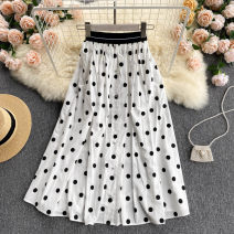 skirt Summer 2021 Average size White dot, white stripe, dark blue stripe, white English, black English, black Daisy, green Daisy, orange daisy Mid length dress commute High waist A-line skirt other Type A 18-24 years old 31% (inclusive) - 50% (inclusive) other other Korean version