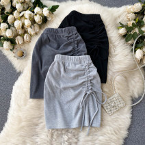 skirt Summer 2021 Average size Black, dark grey, light grey Short skirt commute High waist A-line skirt other Type A 18-24 years old 31% (inclusive) - 50% (inclusive) other other Pleating Korean version