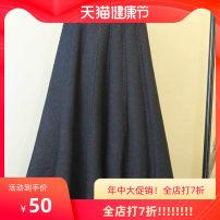 skirt Winter 2020 Average size 80-150kg Black, apricot, dark grey Mid length dress A-line skirt Solid color