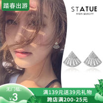 Ear Studs Synthetic cubic zirconia / water drill 40-49.99 yuan Other / other brand new Japan and South Korea female goods in stock Fresh out of the oven Gold Plated inlaid artificial gem / semi gem Cross / crown / Roman numerals