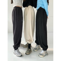 Casual pants Apricot, grey, black Average size Spring 2021 trousers High waist commute routine 18-24 years old 0113M Other / other Retro