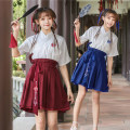 National costume / stage costume Summer of 2018 Red -GZ0001 blue -GZ0006 red -GZ0006 SMLXL European Wei Yan GZ0006 Polyester 100%