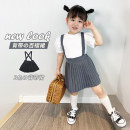 Dress Gray, black female Other / other 7 for 100, 9 for 110, 11 for 120, 13 for 130 and 15 for 140 Polyester 100% No season solar system Strapless skirt Solid color other Pleats Three, four, five, six, seven, eight Chinese Mainland