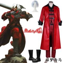 Cosplay men's wear suit Customized See description Over 14 years old XXS, XS, s, m, l, XL, XXL, XXXL, children s, children L, tailored, Dante wig, Dante boots game Japan Ghost cry series Otaku