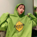 Women's large Winter of 2019 Green white black M L XL Sweater / sweater singleton  commute easy thickening Socket Long sleeves letter Korean version Hood routine printing and dyeing routine XKNY620 New conia 18-24 years old Polyester 100% Pure e-commerce (online only)