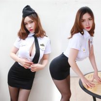 Nightdress Other / other Top + skirt + HAT + tie, top + skirt + HAT + tie + black stockings, top + skirt + HAT + tie + black stockings, top + skirt + HAT + tie + crotch stockings S [suitable for 80-100kg], m [suitable for 100-115kg]