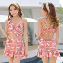 Split swimsuit Baiya M [80-95 Jin], l [95-105 Jin], XL [105-120 Jin], 2XL [120-130 Jin] Skirt split swimsuit With chest pad without steel support polyester fiber female