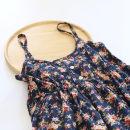 Dress Summer 2020 Dark blue One size fits all Short skirt singleton  commute High waist Decor Socket A-line skirt camisole Type A Silent cotton literature