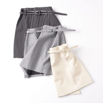 skirt Autumn of 2018 S M L Apricot belt random Black Belt random grey belt random Short skirt commute A-line skirt stripe Type A 18-24 years old FG630265 30% and below Korean version