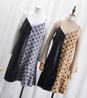Dress Spring of 2018 Grey blue Khaki Average size Mid length dress singleton  Sleeveless commute other other other camisole 18-24 years old Type H Korean version CG616270 31% (inclusive) - 50% (inclusive)