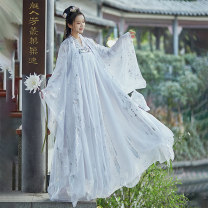 Hanfu 96% and above Summer 2020 XS recommended weight below 90 s recommended weight 90-105 m recommended weight 105-120 l recommended weight 120-135 XL recommended weight 130-145 XXL recommended weight 140-155 XXL recommended weight 150-170 polyester fiber