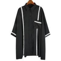 Women's large Spring 2021 black Big size average shirt singleton  commute easy thin Cardigan Korean version polyester fiber Bat sleeve 25-29 years old 51% (inclusive) - 70% (inclusive)