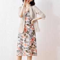 Dress Spring 2021 Apricot multicolor M,L,XL