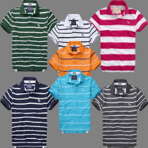 Polo shirt Abubirment Feocn Youth fashion routine XL,L,M,S Self cultivation business affairs summer Short sleeve routine teenagers 2019 stripe cotton More than 95%