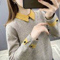 sweater Winter 2020 S M L XL Yellow green black Khaki light pink Long sleeves Socket singleton  Regular other 95% and above Polo collar Regular commute routine stripe Straight cylinder Regular wool Keep warm and warm 25-29 years old Shuyi SYZ0800304 Button Other 100% Pure e-commerce (online only)