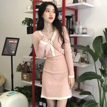 Fashion suit Spring 2020 S M L XL Black Pink apricot 18-25 years old Yinlizi Polyester 100% Pure e-commerce (online only)