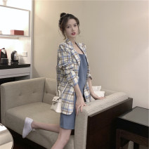Women's large Spring 2020 Plaid suit + suspender dress S M L XL SSL381 Yinlizi Polyester 80% other 20% Pure e-commerce (online only)