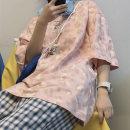 T-shirt Pink Purple M L XL Summer 2021 Short sleeve Crew neck easy Medium length routine commute polyester fiber 86% (inclusive) -95% (inclusive) 18-24 years old Korean version originality He Baiguan 7088-3 Polyester 95% polyurethane elastic fiber (spandex) 5% Pure e-commerce (online only)