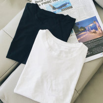 T-shirt M L XL XXL Summer 2021 Short sleeve Crew neck easy Regular routine commute polyester fiber 86% (inclusive) -95% (inclusive) 18-24 years old Korean version youth He Baiguan Polyester 95% polyurethane elastic fiber (spandex) 5% Pure e-commerce (online only)