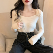 Wool knitwear Autumn 2020 Average size Apricot, gray, white, Burgundy, black, pink Long sleeves singleton  Socket other 30% and below have cash less than that is registered in the accounts routine commute Self cultivation other routine Solid color Socket Korean version 18-24 years old