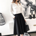 skirt Autumn 2020 XS S M L XL 2XL 3XL Black - regular black - Plush Mid length dress commute High waist A-line skirt Solid color Type A 25-29 years old U21291F More than 95% UFP other pocket Retro Other 100% Pure e-commerce (online only)