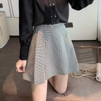 skirt Summer 2021 S M L XL houndstooth  Short skirt commute High waist A-line skirt lattice Type A 25-29 years old U22582F-DY More than 95% UFP other Metal Korean version Other 100% Pure e-commerce (online only)