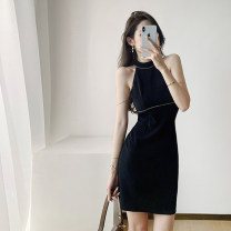 Dress Diamond zipper Other 100% Pure e-commerce (online sales only) Summer 2021 Short skirt commute Sleeveless singleton  Crew neck Solid color High waist 25-29 years old More than 95% zipper A-line skirt other other Type A U22825F -DY ufp Korean version Hanging neck S M L